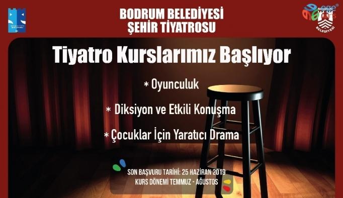 Bodrum Şehir Tiyatrosu kursları başlıyor