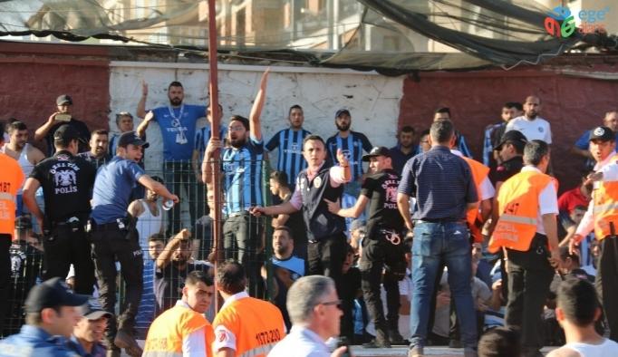 Hatayspor - Adana Demirspor maçının ardından saha karıştı