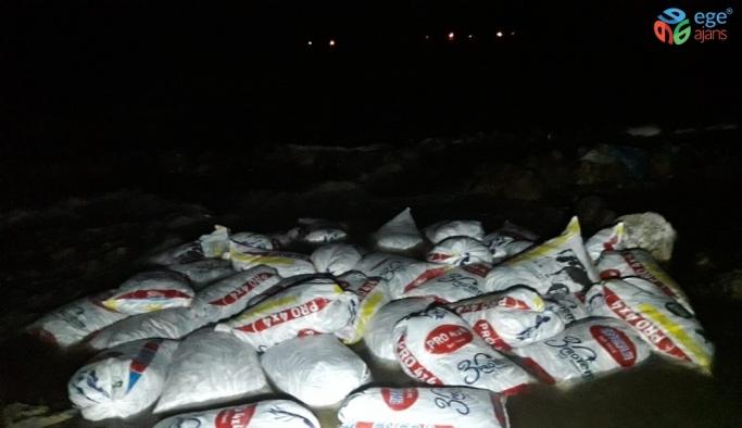 Muradiye'de 1 tonu canlı, 4 ton inci kefali ele geçirildi