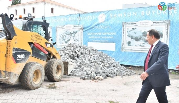 Saathane esnafından Başkan Mustafa Demir'e teşekkür