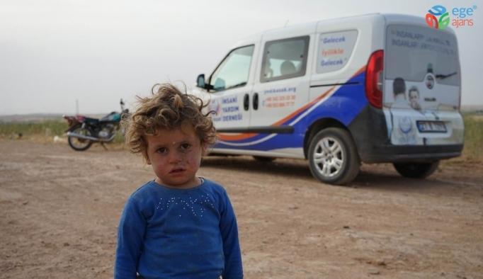 Sınır ötesindeki Suriyelilere yardım eli