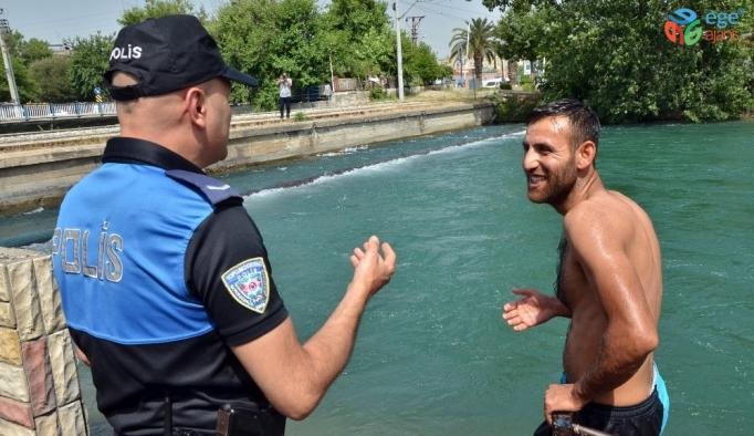 Sulama kanallarında tehlikeli serinliğe polisten uyarı