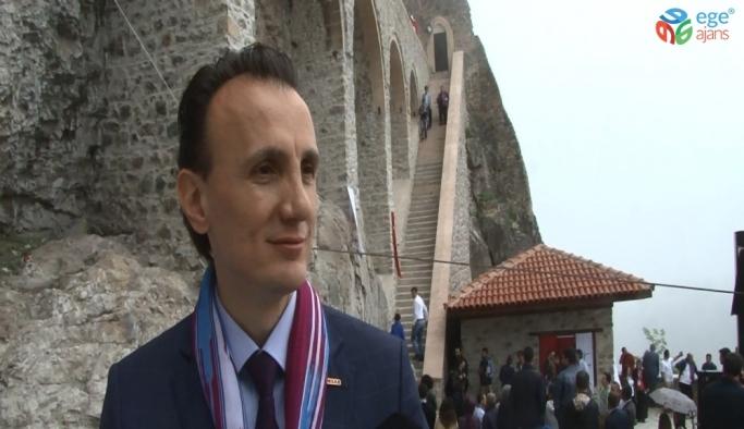 Sümela Manastırı'nın birinci kısmının ziyarete açılması