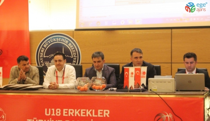 U-18 Erkekler Türkiye Basketbol Şampiyonası'nda Kuralar Çekildi