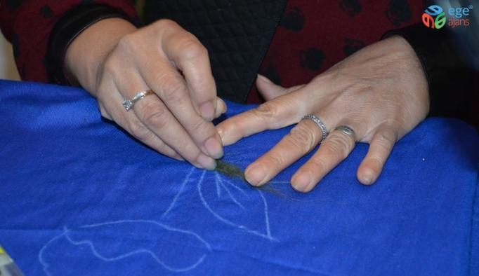 Unutulmaya yüz tutmuş keçe işleme sanatını tekrar canlandırmaya çalışıyor