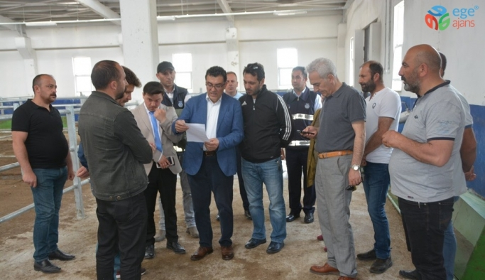 Başkan Demir, hayvan pazarında incelemelerde bulundu
