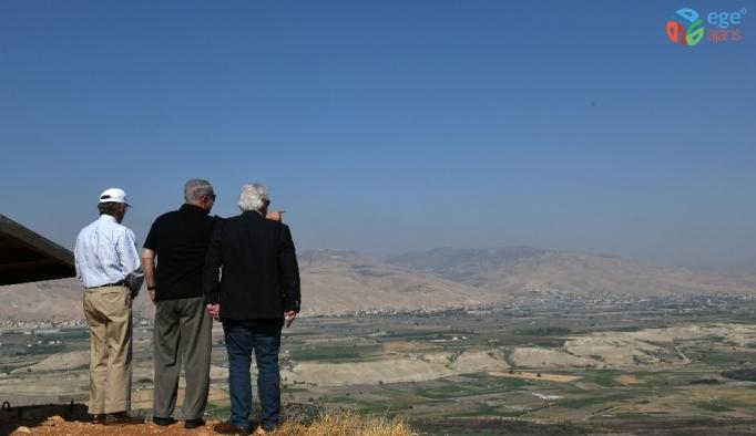 Bolton ile Netanyahu Ürdün Vadisini gezdi