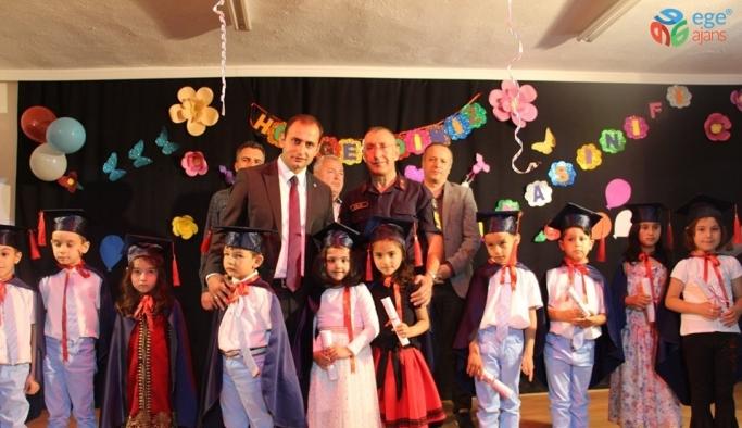 Dumlupınar'da ana sınıfı öğrencileri için mezuniyet töreni