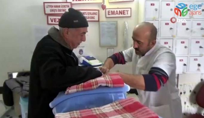 Emet'te 65 yaş üstü vatandaşlara bedava hamam uygulaması yeniden düzenlendi