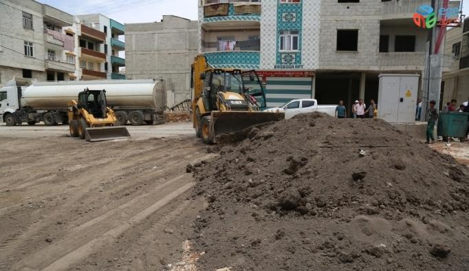 Eyyübiye'de yeni park yapım çalışmaları sürüyor