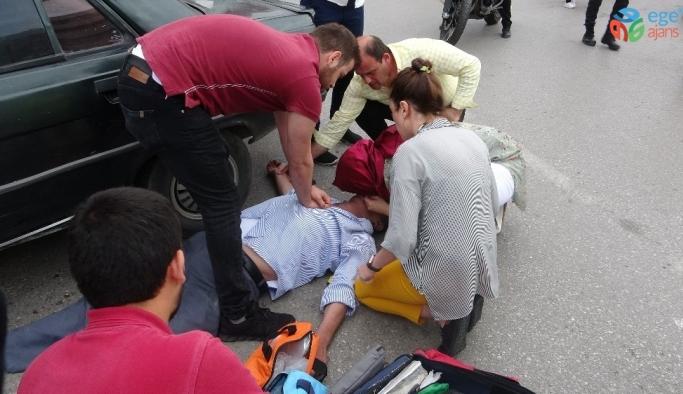 Kaza tartışmasında kalp krizi geçirdi, yoldan geçen sağlık görevlisinin müdahalesiyle hayata döndü