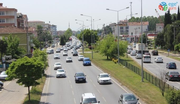 Samsun-Ordu karayolunda 'bayram' yoğunluğu