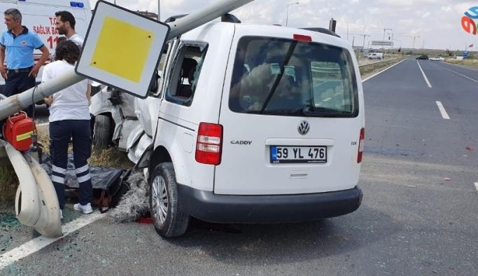 Tekirdağ'da araçlar kafa kafaya çarpıştı: 1 ölü, 1 yaralı