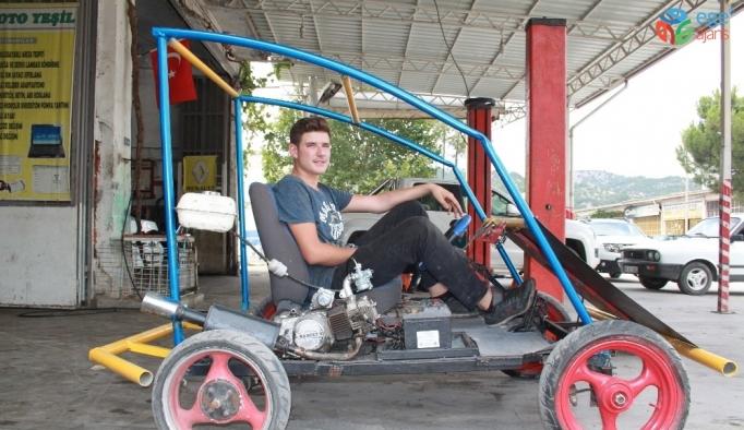 12. sınıf öğrencisi babasına inat kendi aracını kendi yaptı