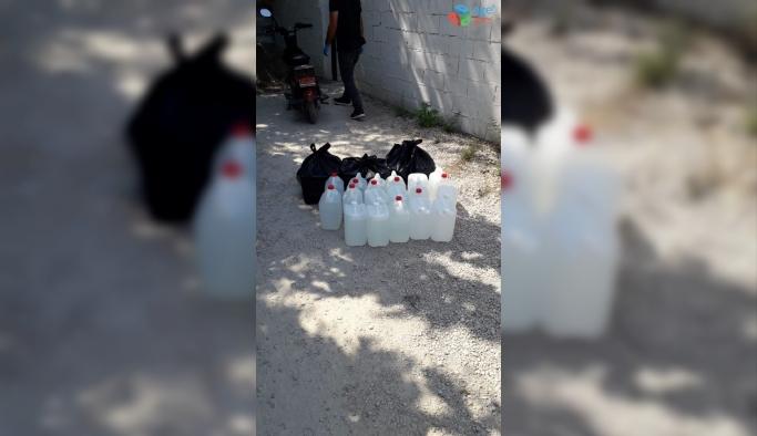 Adana'da sahte içkiye suçüstü