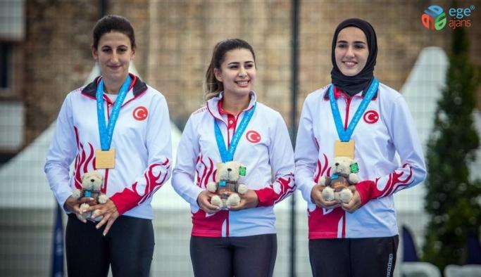 Altın madalya kazanan Kayserili okçu Gizem Elmaağaçlı kentin gururu oldu