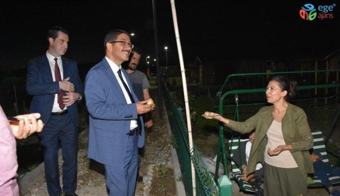 Başkan Çelik hobi bahçelerini inceledi