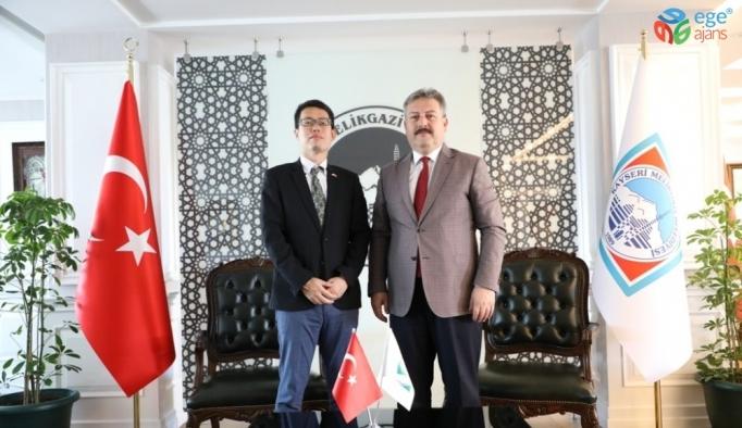 """Başkan Dr. Palancıoğlu """"Melikgazi'nin sosyal sorumluluk projeleri, Japonların dikkatini çekti"""""""