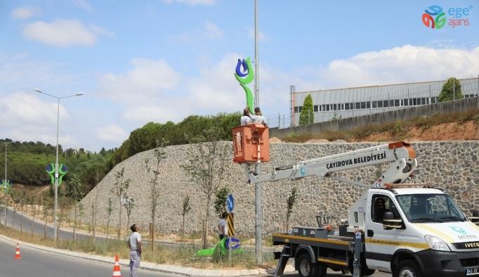 Çayırova'da çevre düzenleme çalışmaları sürüyor