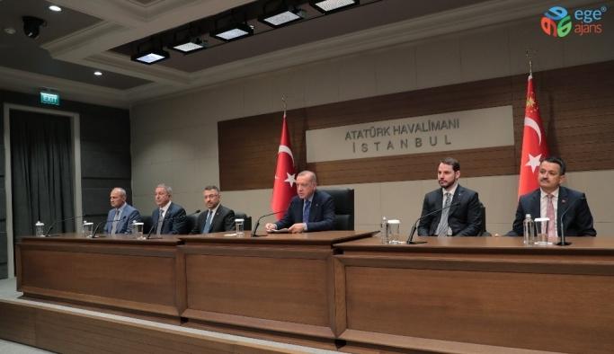 Cumhurbaşkanı Erdoğan, Bosna Hersek ziyareti öncesi Atatürk Havalimanı'nda konuştu