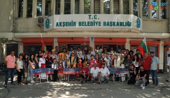 Dans grubu ve halk oyunları ekiplerinden Başkan Akkaya'ya ziyaret