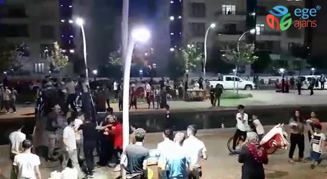Diyarbakır'da seyyar satıcıların yer kavgası kamerada
