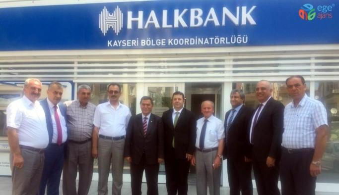Esnaf ve Sanatkarlar Kredi ve Kefalet Kooperatifi Başkanı Alan, Halk Bankası'nı ziyaret etti