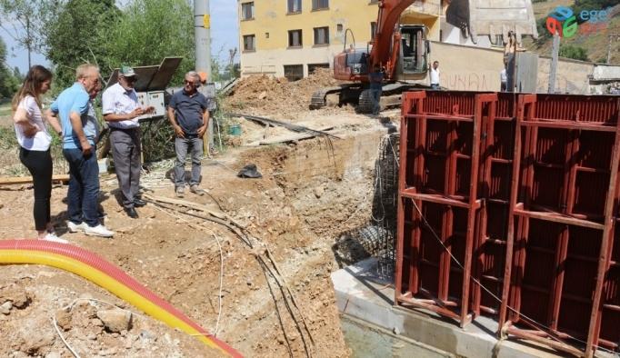 İnönü'de kaptaj çalışmaları devam ediyor