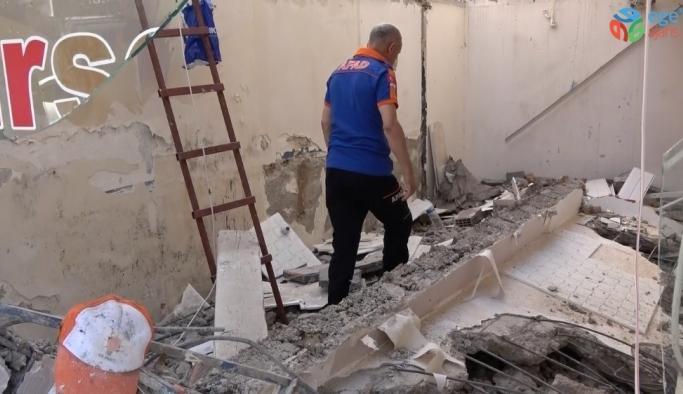 Kestiği kolonun altında kalan inşaat işçisi yaralandı