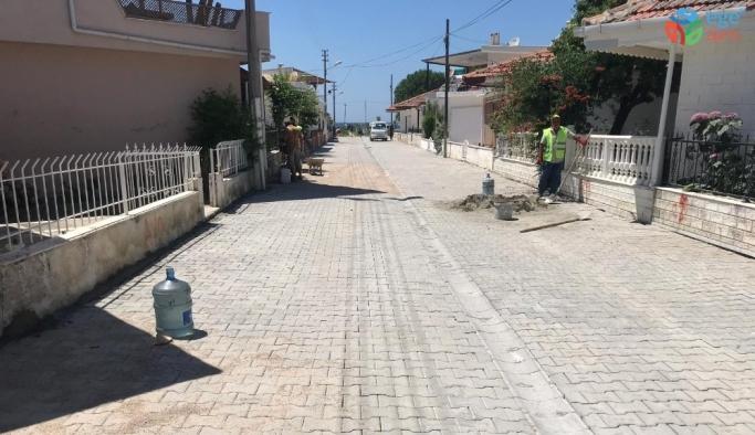 Kuşadası'nda kanalizasyon ve alt yapı çalışmaları sürüyor