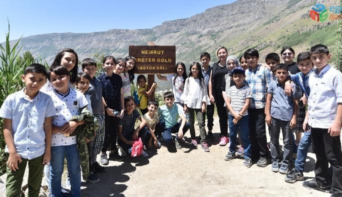 Nemrut Dağı'nda masallarla doğa eğitimi