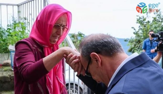 Ordu Valisi Yavuz, Kıbrıs şehidinin eşini ziyaret etti