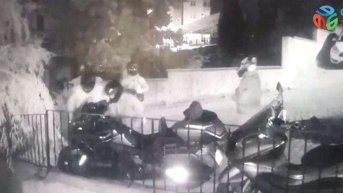 (Özel) Ataşehir'de kasklı motosiklet hırsızlığı çetesi kamerada