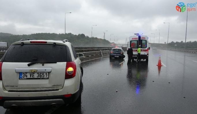 (Özel) Kontrolden çıkan kamyon zincirleme kazaya neden oldu: 2 yaralı