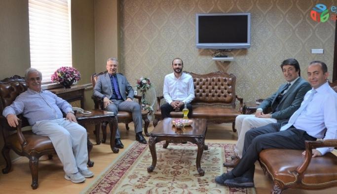 Prof. Dr. Muammer Yaylalı'dan Rektör Levent'e ziyaret