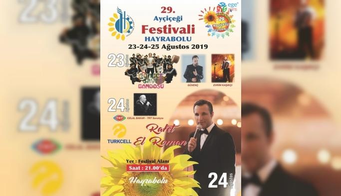 29. Hayrabolu Ayçiçeği Festivali sanatçıları belli oldu