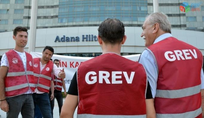 Adana'da otel işçilerinin grevi sona erdi