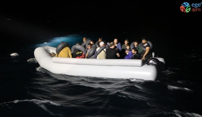 Ayvalık açıklarında 31 düzensiz göçmen yakalandı