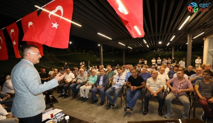 Başkan Işıksu, site yöneticileriyle bir araya geldi