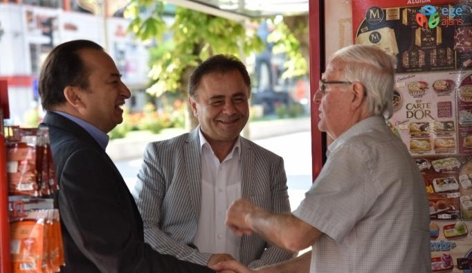 Başkan Şahin esnaf ve vatandaşlarla bir araya geldi