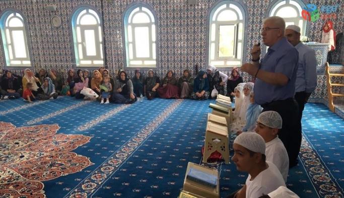 Başkan Yüksel, Kur'an-ı Kerim'i hatim eden öğrencileri tebrik etti