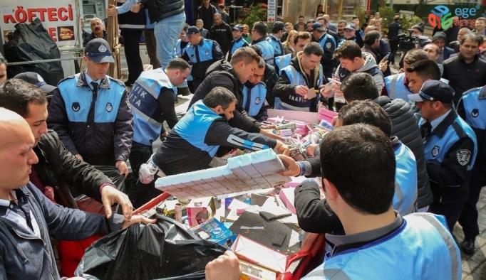 Bursa Büyükşehir Belediyesinden seyyar satıcılara bayram düzenlenmesi