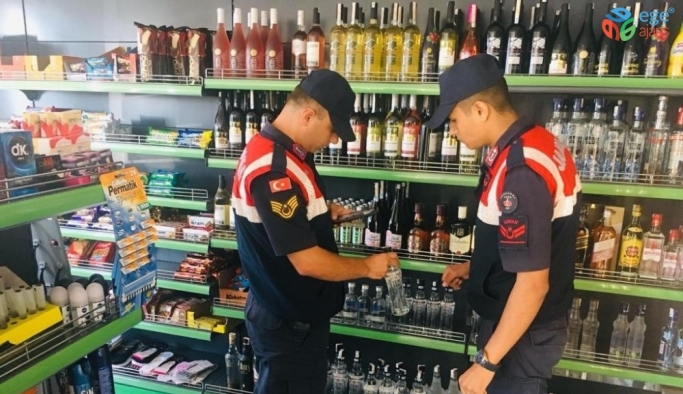 Bursa jandarma ekiplerinden kaçak alkol denetimi