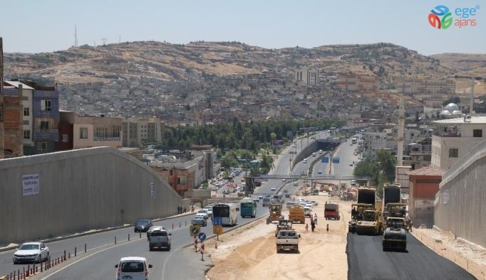 Karakoyun köprülü kavşağı asfaltlanıyor