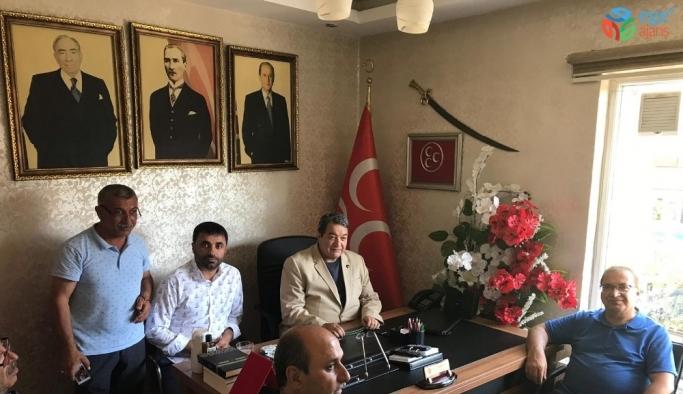 Kazgan'dan MHP'ye taziye ziyareti