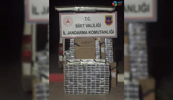Siirt'te 7 bin 490 paket kaçak sigara ele geçirildi