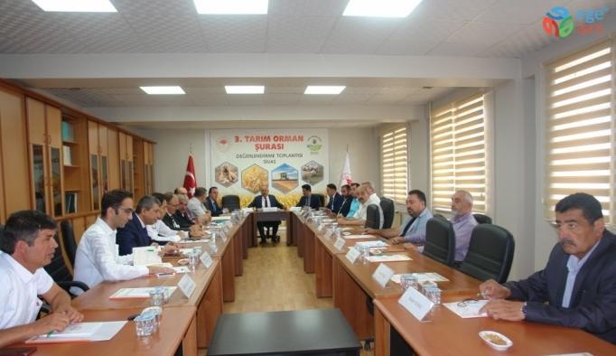 Sivas'ta 3. Tarım Şurası öncesi değerlendirme toplantısı yapıldı