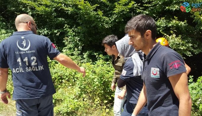 Uçuruma düşen fındık işçisini AFAD ekipleri kurtarıldı