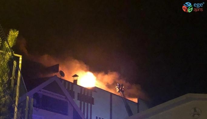 Zonguldak'ta fındık fabrikasında korkutan yangın