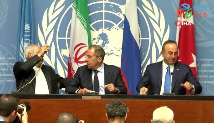 Dışişleri Bakanı Mevlüt Çavuşoğlu, Rusya Dışişleri Bakanı Sergey Lavrov ve İran Dışişleri Bakanı Muhammed Cevad Zarif GÖRÜŞMESİ